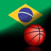 Brezilya basket topu — Stok Vektör