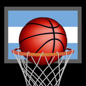 Argentine basket ball — Stock Vector