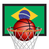 Brazilian basket ball — Stock Vector