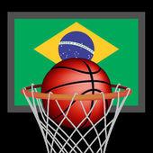 Brazilian basket ball — Vetorial Stock