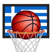 корзина мяч греки — Cтоковый вектор