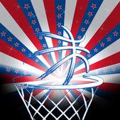 New Zealand basket ball — Stock Vector