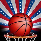 USA basket ball — Stock Vector