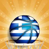 Greeks basket ball — Stock Vector