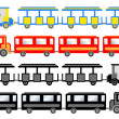 Stock Vector: Train for sightseeing