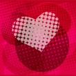 Halftone heart background — Imagen vectorial