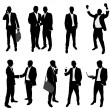 Business silhouettes — Stockvector #19428365