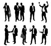 Siluetas de negocios — Vector de stock