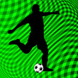 Soccer player on abstract background — Stockvectorbeeld