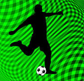 Soccer player on abstract background — Vecteur