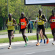 Stock Photo: Group of marathon competitors during 26th Belgrade Marathon on April 21, 2013 in Belgrade, Serbia