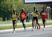 A group of marathon competitors during the 26th Belgrade Marathon on April 21, 2013 in Belgrade, Serbia — Stok fotoğraf