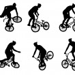 Stock Vector: Stunt bicyclist