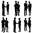 Stock Vector: Business people handshake