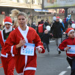 Stock Photo: Unidentified participants of sixth annual Belgrade Santas Race on Dec. 29, 2013 in Belgrade, Serbia