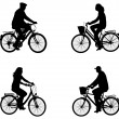 City bicyclists silhouettes — Stock Vector #45675179