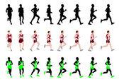 Marathon runner — Stock Vector