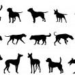 Dogs collection silhouettes — Stock Vector #46907811