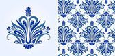 Blue pattern — Stockvector