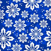 Christmas seamless pattern with snowflakes — ストックベクタ
