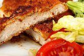 Breaded pork chop — Stock Photo
