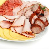 Platter of cold meats — Stock Photo