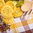 Royalty-Free Stock Photo: Italian pasta  with olive, spices, cheese and parsley