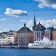 Beautiful panorama view of Gamla Stan, Stockholm, Sweden — ストック写真