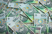 Background made from polish money banknotes — Stock Photo