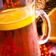 Stock Photo: Mulled wine with cinnamon sticks and christmas anise stars