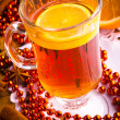 Mulled wine with cinnamon sticks and christmas anise stars — Stok fotoğraf