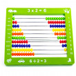 Abacus toy for child isolated on white background — 图库照片