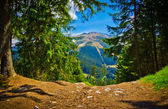 Mountainous landscape view in spring, Low Tatras, Slovakia — Stock Photo