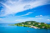 Schöne aussicht auf st. lucia, karibik — Stockfoto