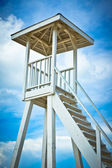 Wooden lifeguard tower on Saint Lucia beach, Caribbean Islands — Stock Photo