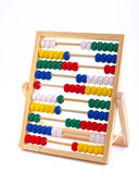 Abacus toy for child isolated on white background — Stock Photo
