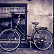 Stock Photo: Classic vintage retro city bicycle in Copenhagen, Denmark