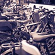 Stock Photo: Classic vintage retro city bicycles in Copenhagen, Denmark