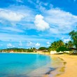 Beautiful beach in Saint Lucia, Caribbean Islands - Stock Photo