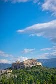 υπέροχη θέα της αρχαίας ακρόπολης, αθήνα, ελλάδα — Φωτογραφία Αρχείου