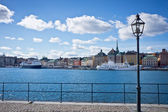 A view of Stockholm old city, Sweden — Foto Stock