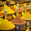 Pack of variety spices on Istanbul market, Turkey — Stock Photo