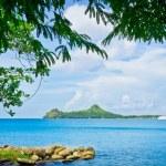 Beautiful beach in Saint Lucia, Caribbean Islands — Stock Photo #23866443