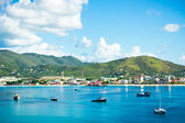Beautiful panorama of Philipsburg, Saint Martin, Caribbean Islan — Stock Photo