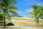 Beautiful stone bridge in Philipsburg, Saint Marteen, Caribbean — Stock Photo