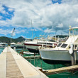 Stock Photo: Yachts in Philipsburg marina, Saint Maarten, CaribbeIslands