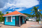 Beautiful houses at Philipsburg, St Maarten, Caribbean Islands — Stock Photo
