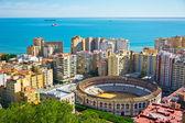 Schöne aussicht auf die stadt malaga, spanien — Stockfoto