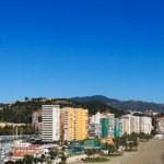 Beautiful panorama view of Malaga city, Spain — Stock Photo
