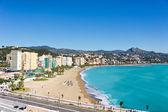 Piękny widok miasta malaga, hiszpania — Zdjęcie stockowe